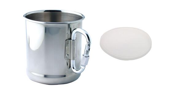 baladeo Tasse mit Karabinerhaken Drinkfles zilver